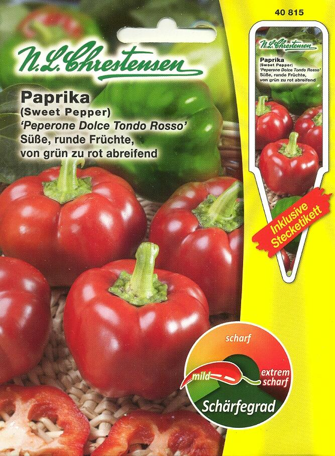 Paprika, Peperone Dolce Tondo Rosso