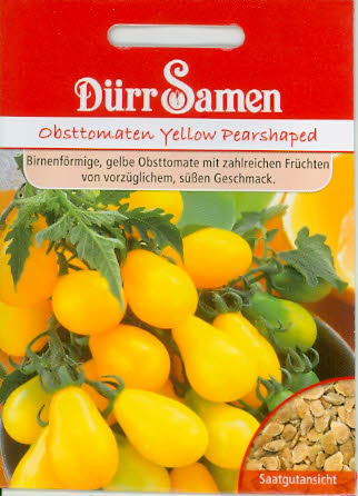 Obst-Tomaten Yellow Pearshaped DÜ G