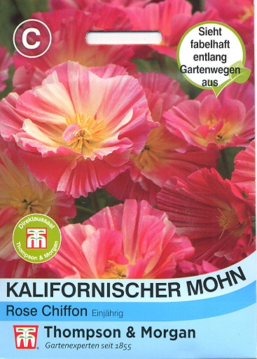 Kalifornischer Mohn Rose Chiffon - NEU Eschscholzia californ
